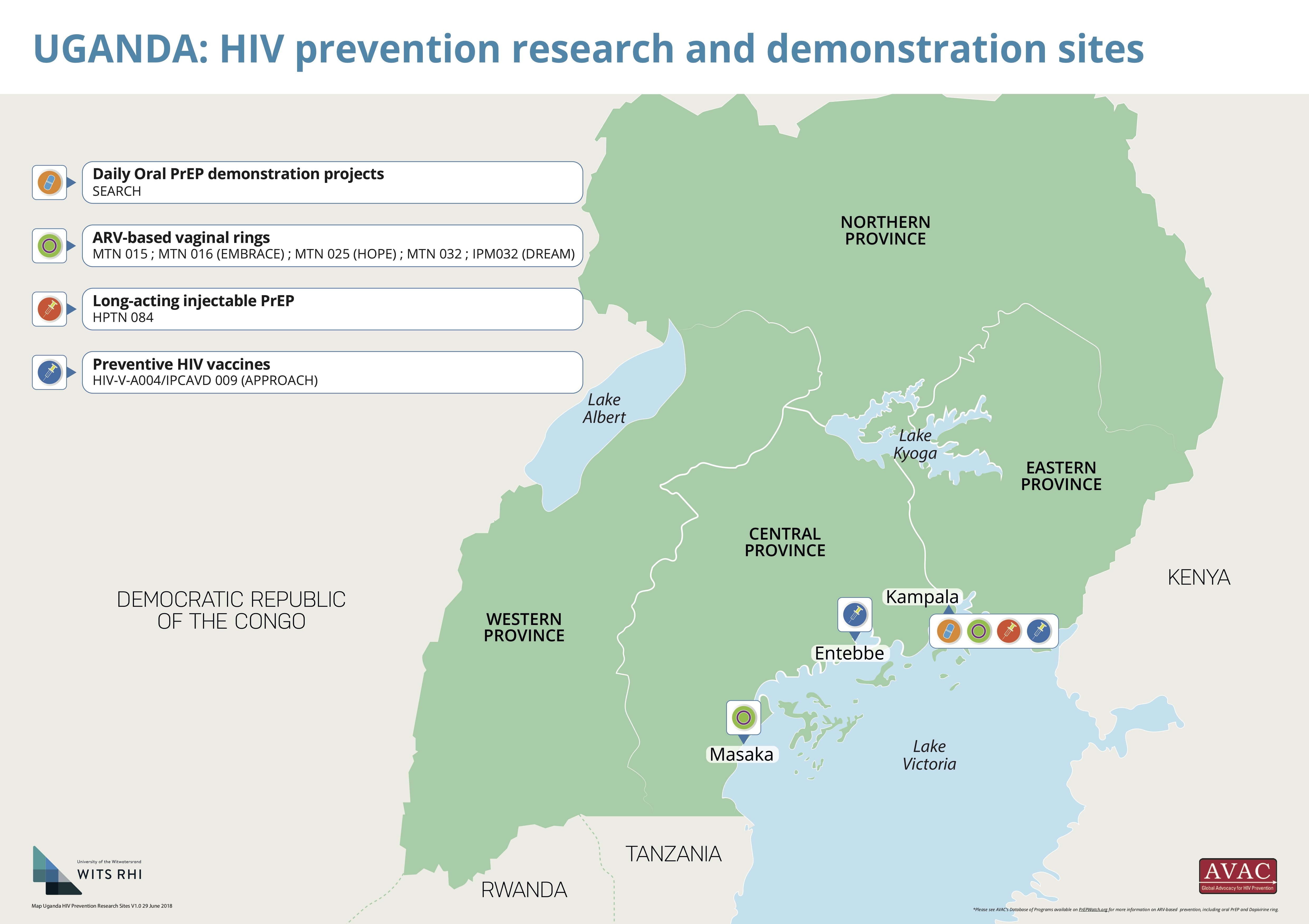 Map of HIV Prevention Research and PrEP Demonstration Sites in ...