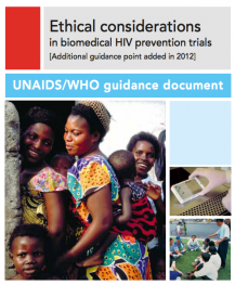 ethical considerations in biomedical hiv prevention trials