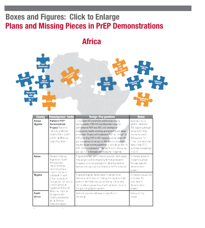 Plans and missing pieces in PrEP demonstrations Africa