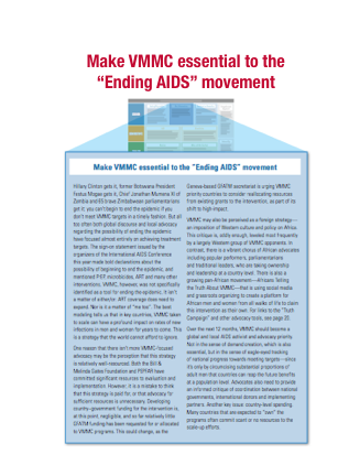making vmmc essential to the ending AIDS movement