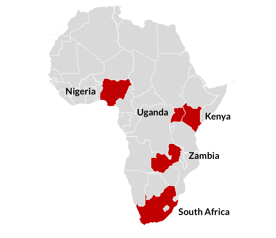 Map of PxROAR Africa members